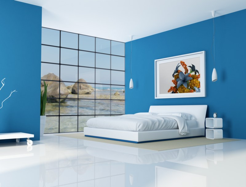 Interior Blue Bed Rooms feng shui articles interiors water features in the bedroom ever