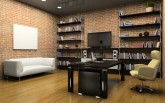 Open book shelves